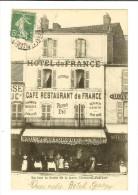 Clermont-Ferrand, En Face  La Sortie De La Gare, Hôtel Et Café Restaurant De France Astorgue-Timbre Recto 1908 - Clermont Ferrand