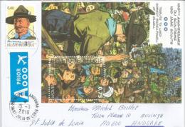 Centenaire Du Scoutisme En BELGIQUE Sur Lettre Adressée En ANDORRE, Avec Timbre à Date Arrivée Au Recto Enveloppe - Scoutisme