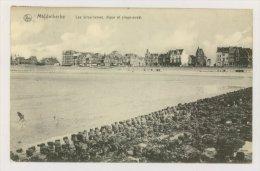 MIDDELKERKE : Les Brises-lames, Digue Et Plage-ouest, 1914 (f7756) - Middelkerke