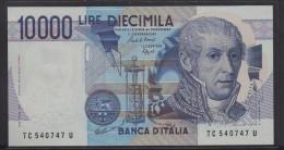 REPUBBLICA ITALIANA  L. 10000 ALESSANDRO VOLTA  SERIE TC  1984 (occhi Scuri)   FDS - [ 2] 1946-… : République