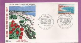 44  ENVELOPPE PREMIER JOUR  1967    LA BAULE  SERIE TOURISTIQUE TAMPON  LA BAULE - FDC
