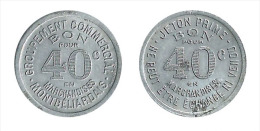 N2126 - Montbéliard: Groupement Commerecial: 40 Centimes - Monetari / Di Necessità