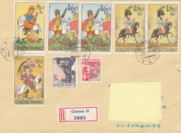 1972 - Registered Mail Ostrava (cavalier, Horse) - FDC
