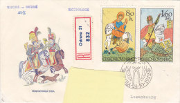 1972 - Registered Mail Ostrava Cavalier Horse, Vers Luxembourg - FDC