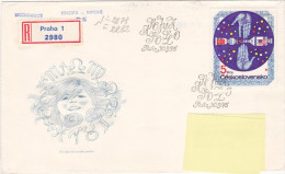 1975 - Registered Mail Praha Espace Space - FDC