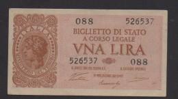 ITALIA REGNO  L. 1  LUOGOTENENZA 1944 VENTURA QFDS - Italia – 1 Lira