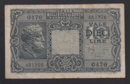 ITALIA REGNO  L. 10  GIOVE 23/11/1944  BB - Italia – 1 Lira