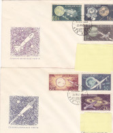FDC - 1973 Exploration Espace Space (lot Of 2) - FDC