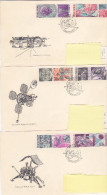 FDC - 1966 Exploration Espace Space (lot Of 3) - FDC