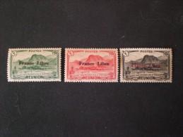 STAMPS REUNION ISLAND 1943 TIMBRES 1933-1943 SURCHARGES FRANCE LIBRE MNH - Réunion (1852-1975)