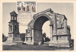 Carte-Maximum FRANCE N° Yvert 1130 (SAINT REMY - LES ANTIQUES) Obl Sp Ill Ier Jour - Cartoline Maximum
