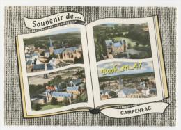 {41253} 56 Morbihan Souvenir De Campénéac , Multivues ; Divers Aspects ; Eglise , Château De Trécesson , Centre Du Bourg - France