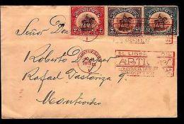 1923 URUGUAY EQUESTRIAN STATUE OF ARTIGAS MILITARY HORSE FDC COVER - Stamps
