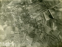 France WWI Front De L'Aisne Wassigny Reconnaissance Aerienne Ancienne Photo Septembre 1918 - War, Military