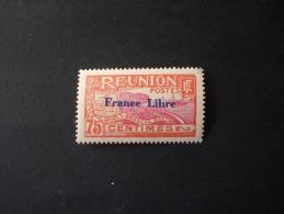 STAMPS REUNION ISLAND 1943 TIMBRES 1907-1917 SURCHARGES FRANCE LIBRE MNH - Réunion (1852-1975)