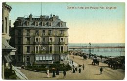 BRIGHTON : QUEEN'S HOTEL AND PALACE PIER - Brighton