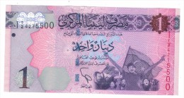 Libya 1 Dinars , UNC,  Free Ship. To USA. - Libya