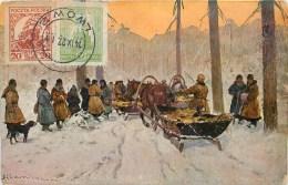 CPA éditée à CRACOVIE EN 1925 - CHASSE EN LITUANIE - ILLUSTRATEUR; S. OLSZEWSKI. - Poland
