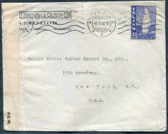1940 Iceland Censor Cover Reykjavik -  New York, USA - 1918-1944 Administration Autonome