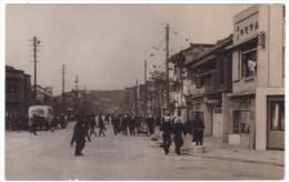 Unknown Japan City, Street Scene, US Navy Sailors Walking On Street, C1946 Vintage Photograph - Plaatsen