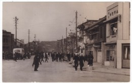 Unknown Japan City, Street Scene, US Navy Sailors Walking On Street, C1946 Vintage Photograph - Places