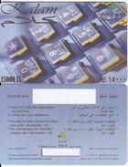 LEBANON - Kalam Prepaid Card 15000LL, Exp.date 31/12/05, Sample