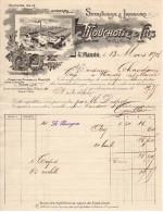 Facture à Entete : MOUCHOTTE & FILS Spiritueux Et Liqueurs Saint Mandé 1908 - Alimentaire