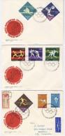POLAND 1964 TOKYO OLYMPICS 3 FDC - Summer 1964: Tokyo