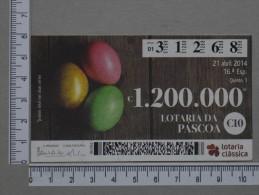 PORTUGAL   2014 - LOTARIA CLASSICA 16ª  ESP - 2 SCANS - (Nº14395) - Billets De Loterie
