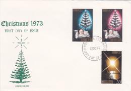 Norfolk Island 1973 Christmas FDC - Norfolk Island