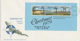 Norfolk Island 1979 Christmas MS  FDC - Norfolk Island