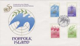 Norfolk Island 1995 50th Anniversary United Nations FDC - Norfolk Island