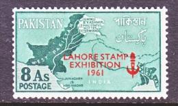 PAKISTAN  122    *     STAMP  EXPO.  MAP - Pakistan