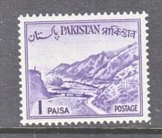 PAKISTAN  129 A  Type  I    **     1961-3 Issue - Pakistán