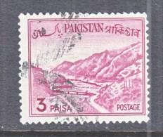 PAKISTAN  131a   Type  II   Retouched   (o)     1961-3 Issue - Pakistan