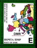 2000 Transnistria (Moldova) - 10 Years Independence 1v., Map , Carte, Mappa, Mapa Geography Local MNH - Geografia
