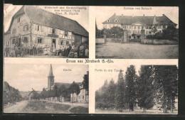CPA Hirzbach, Gasthaus Spezereihandlung Zum Weissen Cheval V. Wwe. M. Higelin, L'Église, Hauptstrasse - Non Classificati