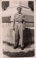 Carte Photo Originale Militaire - Soldat En Uniforme En 1947 à Palma - Carte Circulé - Guerra, Militari