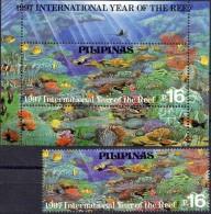 Korallenriff Naturschutz 1997 Philippinen 2835+Block 115 ** 10€ Korallen Hojas Hb Bloc WWF M/s Fishes Sheet Bf Pilipinas - Philippines