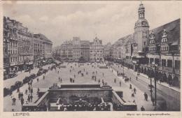 Feldpost WW2: Postcard Leipzig From Fliegerhorst-Kommandantur (E) 8/VII (from Cherbourg France To Kastelli (Crete)) FP L - Militaria
