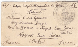 1901 Lettre Du Corps Expeditionnaire De Chine, Cachet Corps Exp.Tonkin Ligne 7 & Cachet Marine Française.Complete Tb éta - Marcophilie (Lettres)