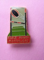 PIN´S  ECOLE RUGBY MONTREJEAU  -  Sport - Rugby  (88) - Rugby
