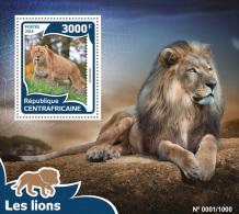 CENTRAL AFRICA 2016 ** Lions Löwen S/S - OFFICIAL ISSUE - A1609 - Raubkatzen