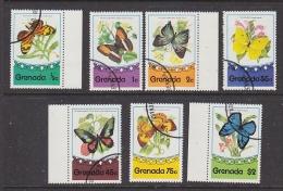 Grenada 1975 Butterflies 7v Used Cto (27582) - Grenada (1974-...)