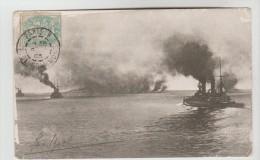CPA PIONNIERE TRANSPORT BATEAUX DE GUERRE ALLEMANDS - Défilé De La Flotte Avec Flotille De Torpilleurs - Guerra