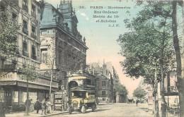 PARIS - Rue Ordener, Mairie Et Autobus. - Arrondissement: 18