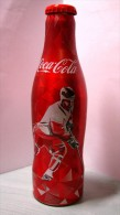 Coca-Cola Bottle. Aluminium. Can 0.25 L. Ice Hockey 2014 IIHF. Issue In Belarus. - Bottiglie