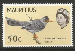 Mauritius MNH - Family BULBULS : Reunion Bulbul ( Hypsipetes Borbonicus ) - Passereaux