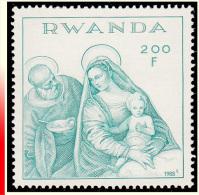 "Rwanda 1337** Noel ""La Vierge à La Soupe"" Veronese  MNH - Rwanda"