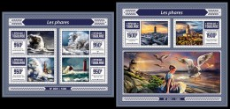 TOGO 2015 - Lighthouses. M/S + S/S. Official Issue - Vuurtorens